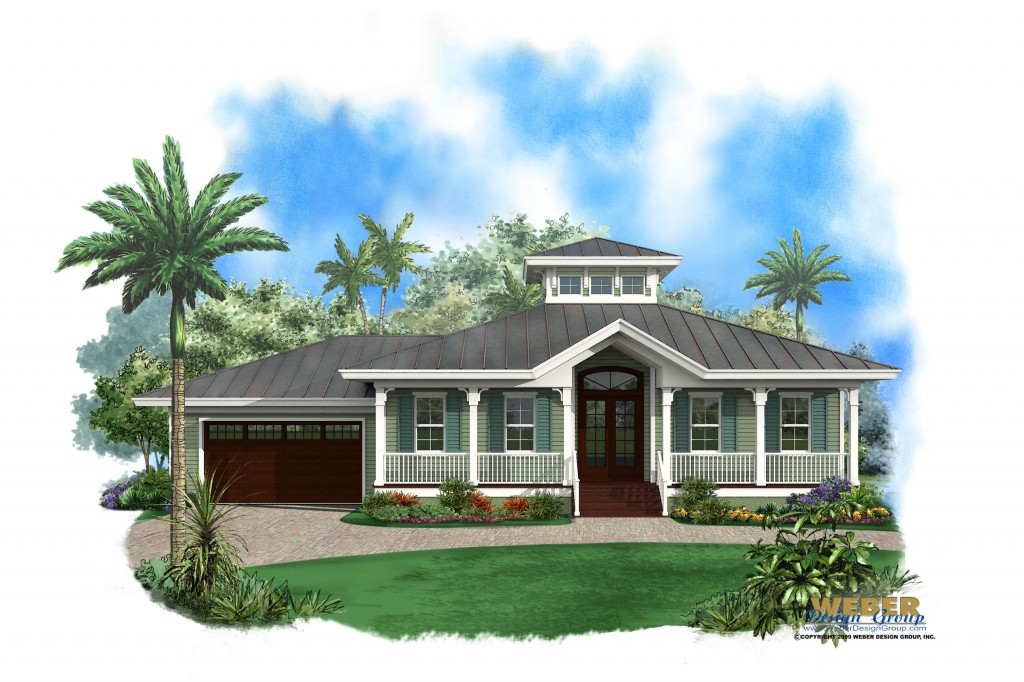 Beach House Plan 1 Story Old Florida Style Coastal Home Floor Plan