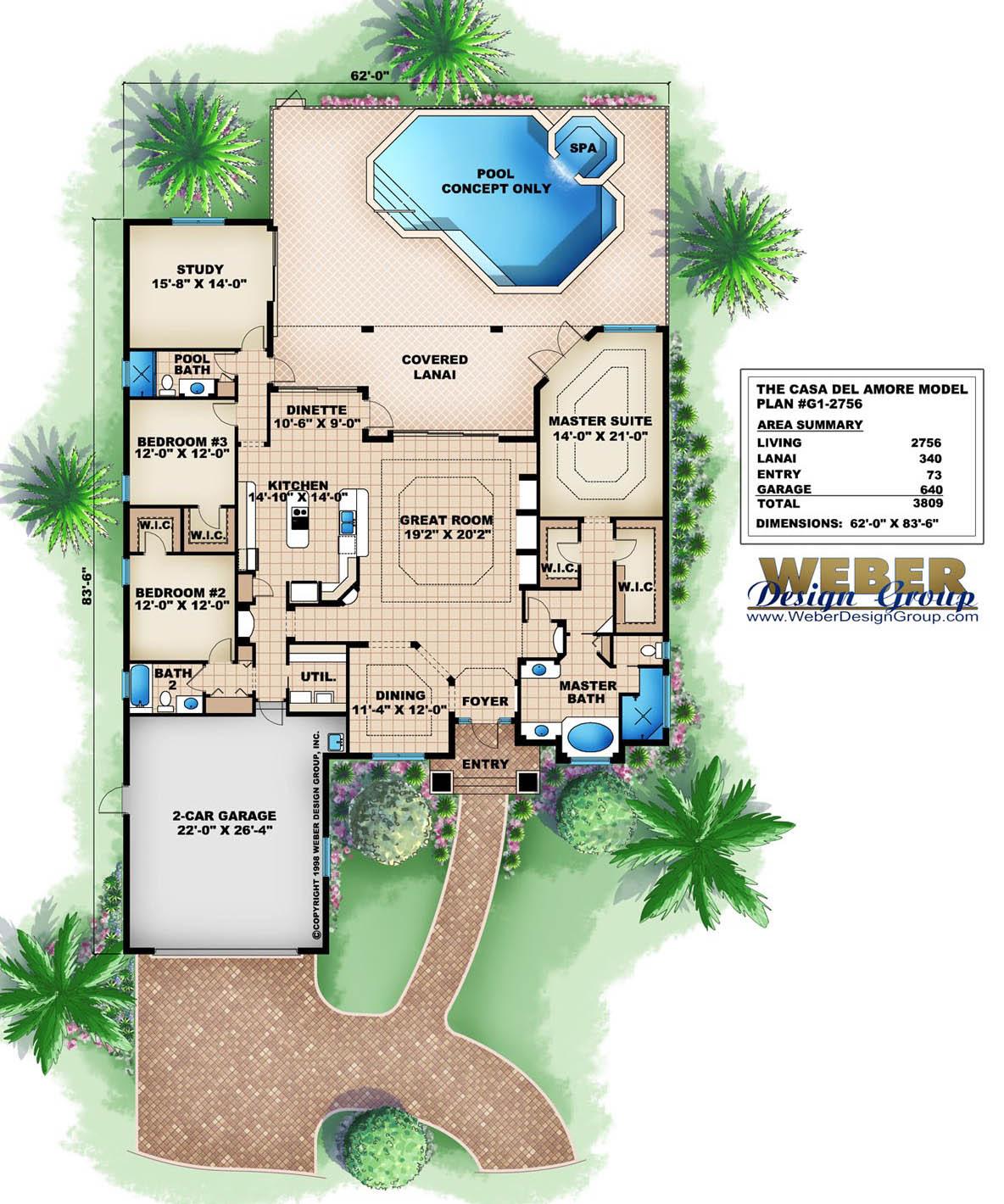 Casa Del Amore Home Plan Weber Design Group Naples Fl